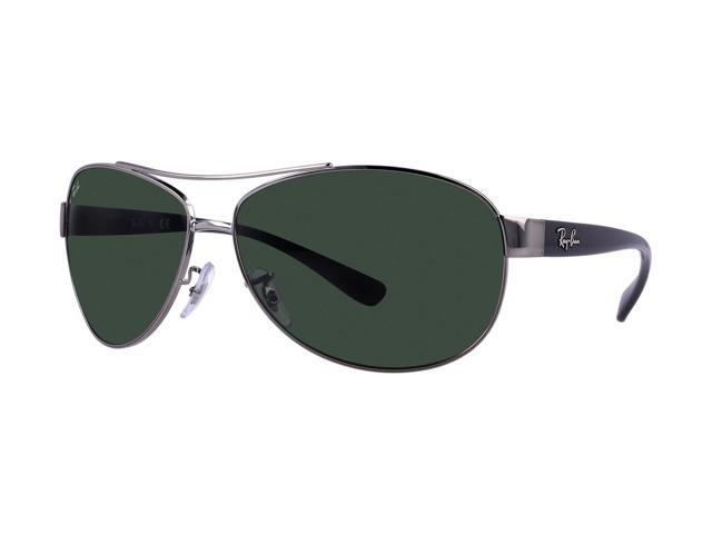 ab07edef47 Ray-Ban 3386 Aviator Sunglasses - Gunmetal   Green Classic G-15 ...