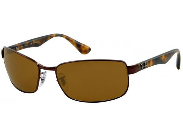 24b0e898be Ray-Ban RB3478 Polarized Rectangle Sunglasses (Dark Brown Tortoise Brown)