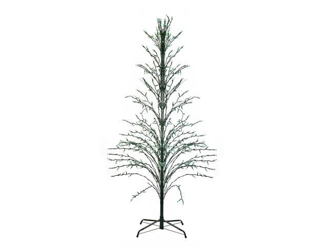 4' Green Lighted Christmas Cascade Twig Tree Outdoor
