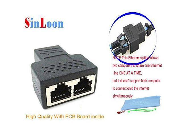 Cat5e Ethernet Cable Splitter: RJ45 Splitter AdapterSinLoon RJ45 Female 1 to 2 port Female Socket rh:newegg.com,Design