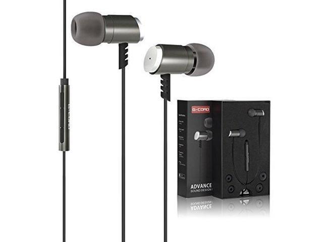 52cb9c89ab9 G-Cord Bass Sound In-Ear Earbuds, 3.5mm Wired Earphones with Mic & Volume  Control