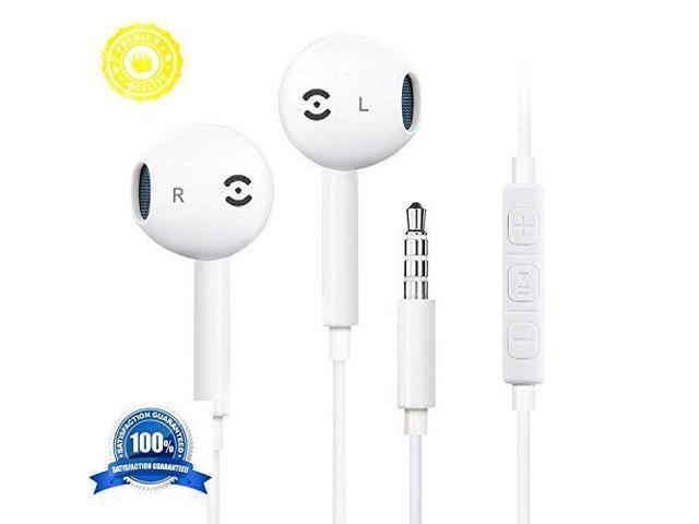 cb1f78e63819cb Earbuds, Nonoco iPhone Headphones With Mic Earbuds with Microphone Best  Earphones for iphone 6s 6 Plus 5s 5 se 5s 4s 4 IOS 7 8 9 10 X Note iPad  iPod 1 2 3 ...