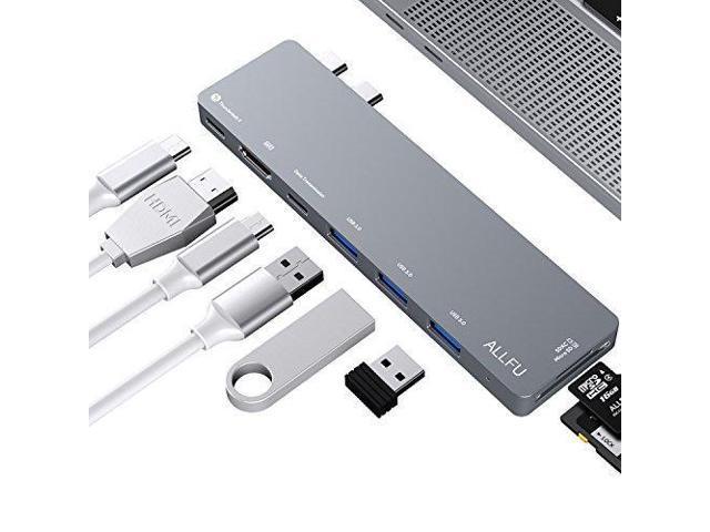 USB C Hub,Thunderbolt 3 Hub ALLFU 8-in-1 Type C Pro Hub Adapter for