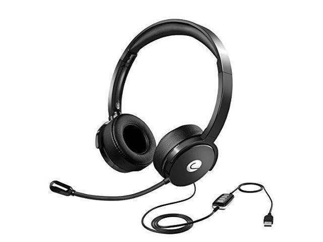 Criacr USB Wired Headset, 3.5mm Wired PC Headset, Light Computer ...