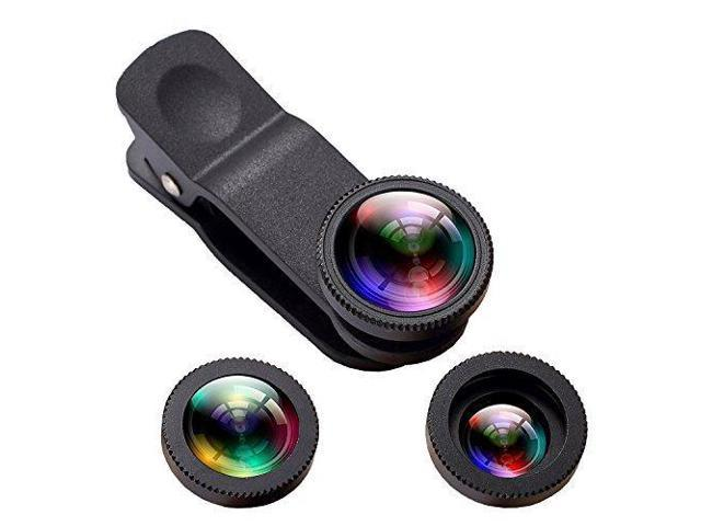 low priced 1a67a c32ff Phone iPhone Camera Lens, Oande 3 in 1 Fisheye Lens & 10X Macro Lens &0.65X  Wide Angle Lens,Cell Phone Lens HD Camera Lens Kits for iPhone 7/6s ...