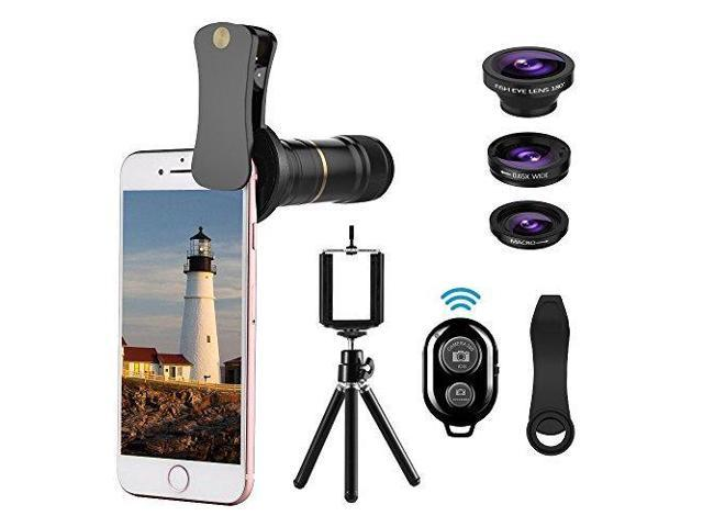 b995a11fd71e2c Cell Phone Camera Lens Kit, UMTELE 4 in 1 12X Telephoto Camera Clip ...