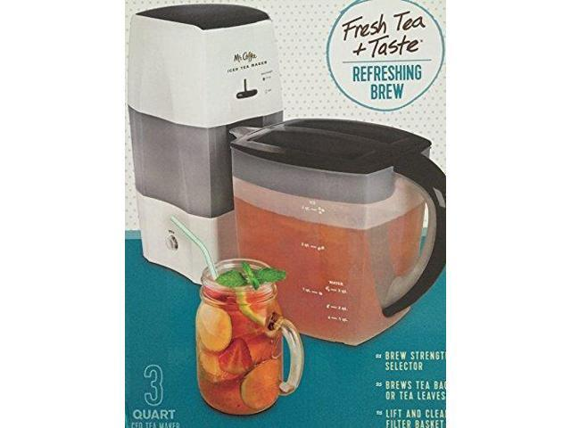 Mr Coffee Iced Tea Maker 3 Quart With Brew Strength Selector Black