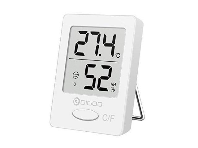 DIGOO TH1130 Indoor Thermometer, Home Refrigerator Digital Hygrometer  Temperature Humidity Monitor, 2'x 1 7' Size, White - Newegg com
