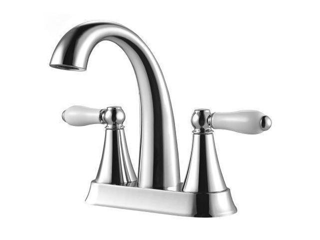 7 Faucet Finishes For Fabulous Bathrooms: Pfister LF048KYCC Kaylon 2-Handle 4 Inch Centerset