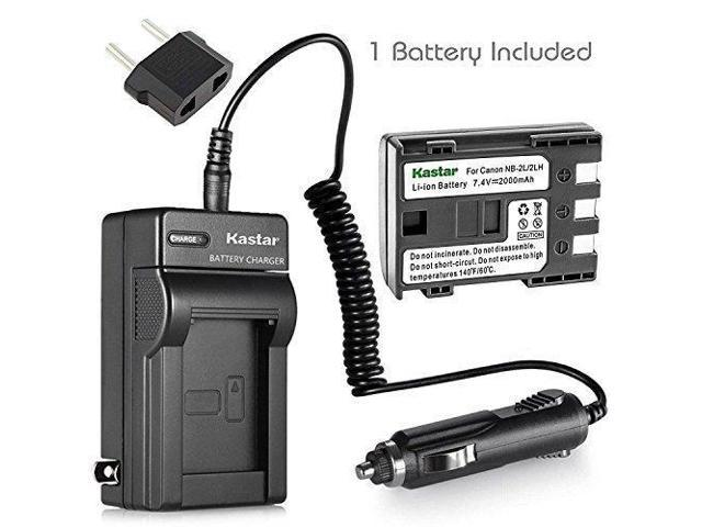 Kastar NB-2L NB-2LH Battery and Charger for Canon EOS Rebel XT Xti Digital  Cameras - Newegg com