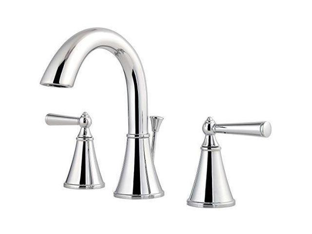 7 Faucet Finishes For Fabulous Bathrooms: Pfister LG49GL0C Saxton 2-Handle 8 Inch Widespread