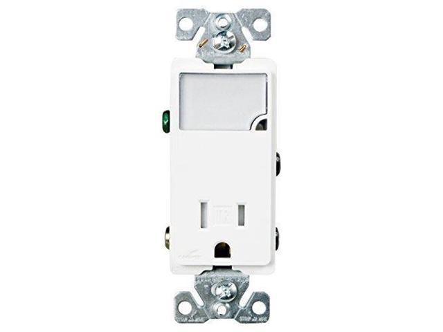 eaton tr7735w 3-wire receptacle combo nightlight with tamper resistant 2-pole  white