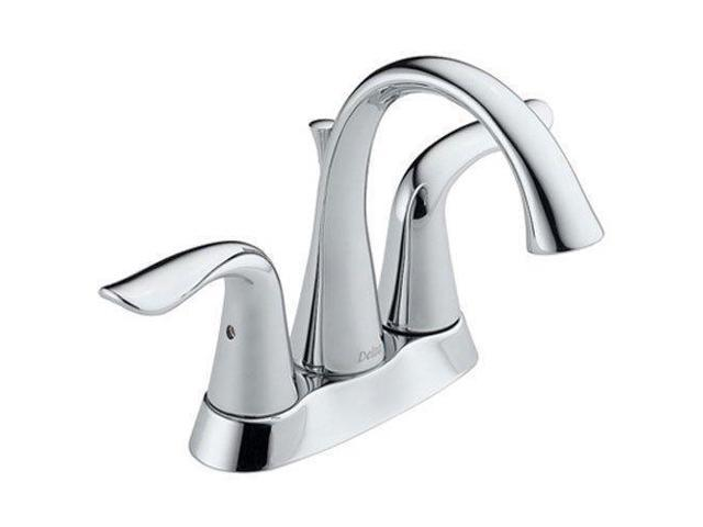 Delta Faucet 3538 Mpu Dst Lahara Polished Chrome Two: Delta Lahara 2-Handle Centerset Bathroom Faucet With