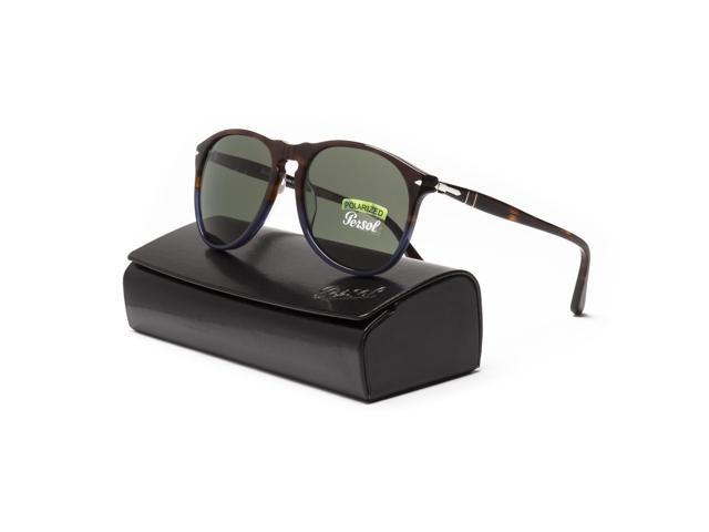 7a0cfb4f24 Persol 9649 Aviator Sunglasses Terra e Oceano Brown Blue   Green Polarized  55 mm