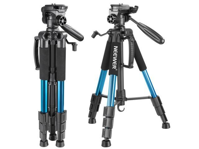 Neewer Portable 56 inches/142 centimeters Aluminum Camera Tripod with 3-Way Swivel Pan Head,Carrying Bag for Canon Nikon Sony DSLR Camera,DV Video Camcorder ...
