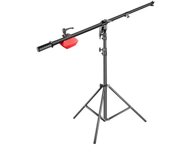 Neewer Pro Lamp Boom Stand Max Height 71 inches/180 centimeters with 88  inches/224 centimeters Holding Arm, 8 8 pounds/4 kilograms Counter Weight  for