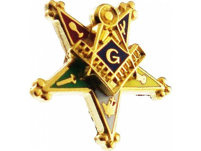 Eastern Star Past Patron Symbol Small Lapel Pin Gold 38