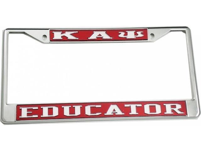 Kappa Alpha Psi Educator License Plate Frame Redsilver Cartruck