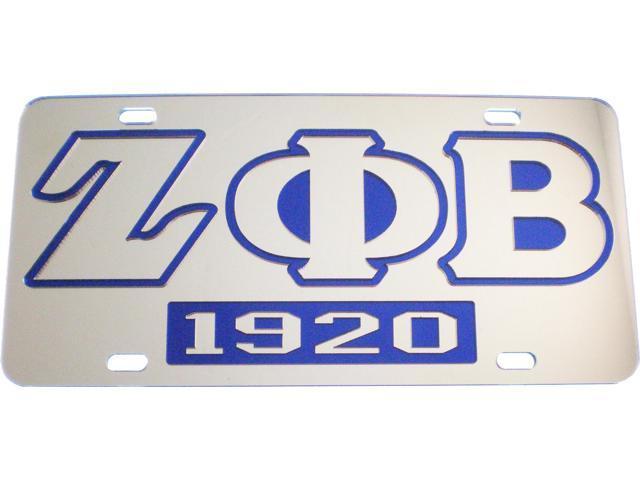 Zeta Phi Beta 1920 Mirror Insert Car Tag License Plate [Silver - Car ...
