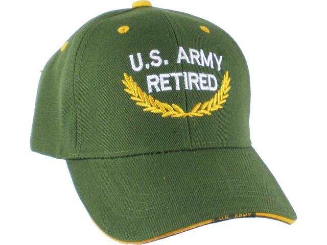 US Honor U.S. Army Retired Gold Leaf Mens Cap  Olive Green - Adjustable  98f74721b8df