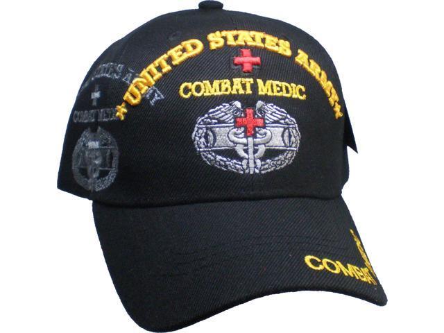 de2849c34ae United States Army Combat Medic Shadow Mens Cap  Black - Adjustable