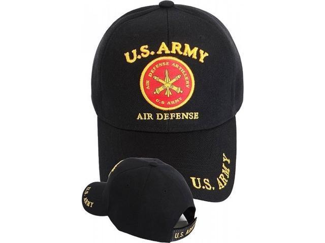 debcfa88263c49 U.S. Army Air Defense Artillery Mens Cap  Black - Adjustable ...
