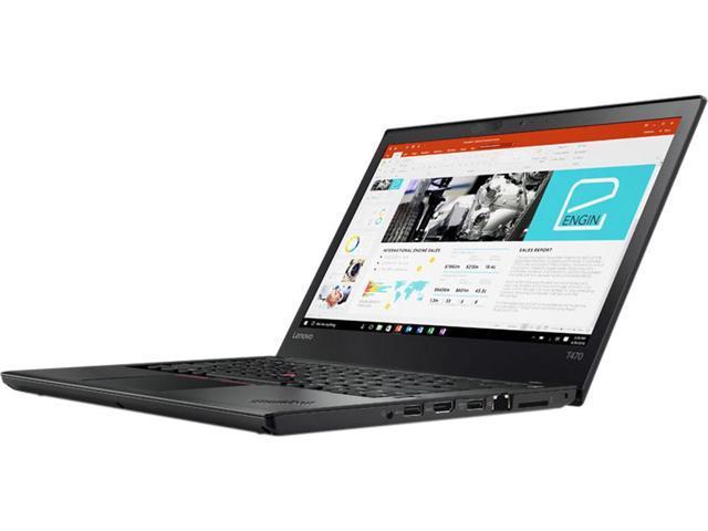"Lenovo Laptop ThinkPad T470 (20JM000CUS) Intel Core i5 6th Gen 6200U (2.30 GHz) 4 GB Memory 500 GB HDD Intel HD Graphics 520 14.0"" Windows 7 Professional 64-Bit (Downgrade From Windows 10 Pro)"
