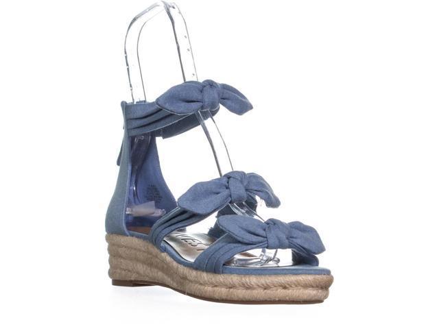 2de6c545e0 Nine West Allegro Bow Espadrilles Sandals, Light Blue Denim, 7.5 US ...