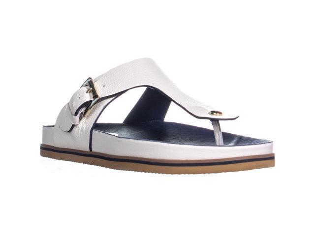 973a2657369 Tommy Hilfiger Forest Slip On T Strap Flat Sandals