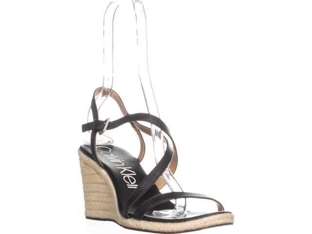 2160a656c5e Calvin Klein Bellemine Espadrille Wedge Sandals, Black, 10 US / 40.5 EU -  Newegg.com