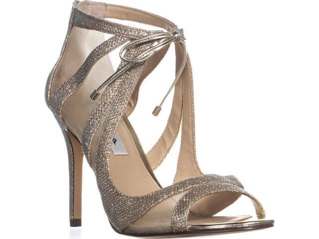 Nina Cherie Strappy Mesh Tie Peep Toe Dress Sandals Soft