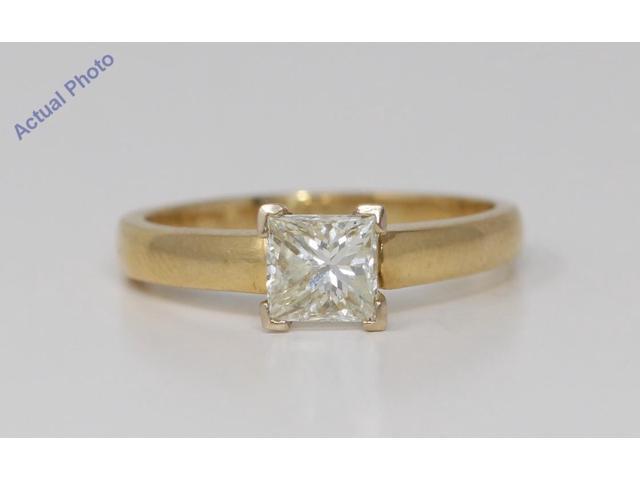 18k Yellow Gold Princess Cut Classic modern square diamond engagement ring  (1 02 Ct, M Color, VS2 Clarity) - Newegg com