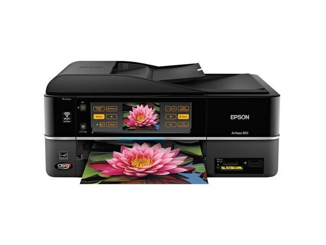 EPSON Artisan 810 C11CA52201 Up to 38 ppm Black Print Speed 5760 x 1440 dpi Color Print Quality Wireless InkJet MFC / All-In-One Color Printer
