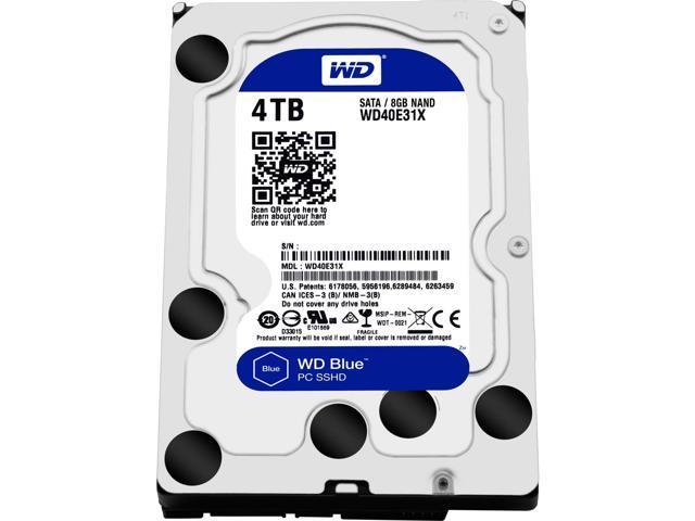 Wd Wd40e31x 00hy4a0 Blue 4 Tb 3 5 Internal Hybrid Hard