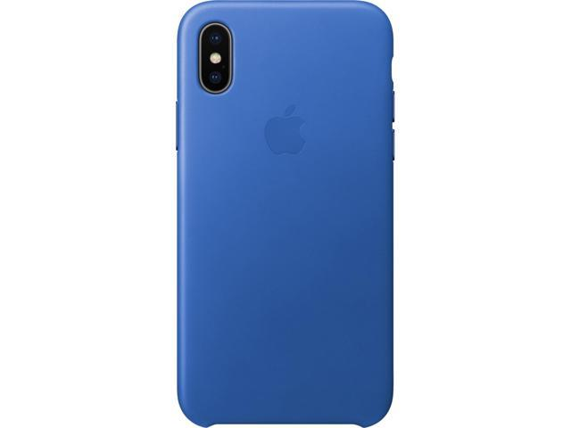 best deals on 94c7a afaf4 Apple iPhone X Leather Case - Electric Blue - Newegg.com