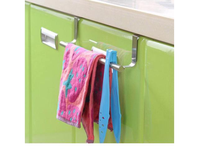 Stainless Steel Towel Bar Holder Over the Kitchen Cabinet Cupboard Door  Hanging Rack Storage Holders Accessories - Newegg.com