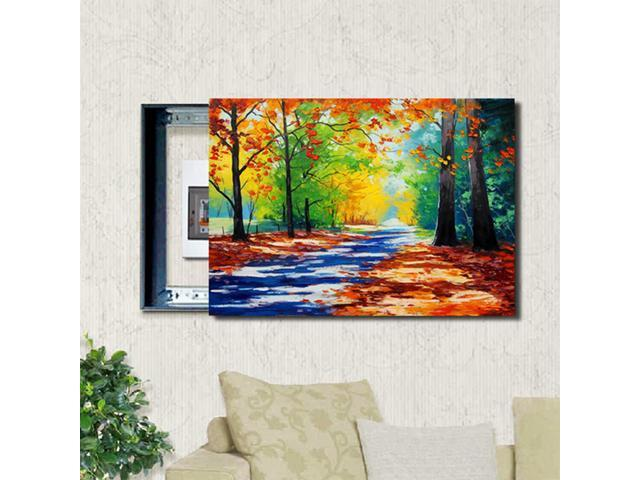 Diy Draw Yourself Path Oil Canvas Painting Switch Cover Wall Art Unframe Decor Home Decor Painting Calligraphy Newegg Com