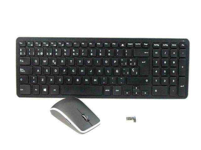 5944963aae1 Dell KM714 Black Spanish USB Wireless Keyboard and Mouse Combo H8D7R 0H8D7R