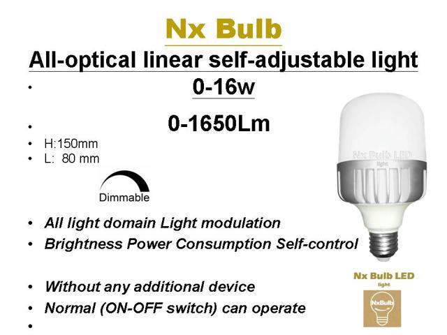 6 pack)Nx Bulb- SNB16Nx 16w Auto switch dimmable Bulb light ,Adjustable,  Dimmable, No other dimmer device required, Work with exist switch, Entire