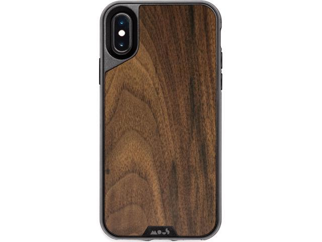 pretty nice 7ec98 96885 Official Mous iPhone XS / X Case - Real Walnut Wood - Free Screen Protector  Inc. - Newegg.com