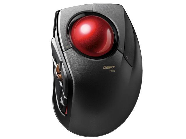 5a3eb1b7111b ELECOM M-DPT1MRXBK DEFT PRO Gaming Trackball Mouse Wired, Wireless, and  Bluetooth, High-Performance Ruby Ball, Advanced Responsiveness, 8 Mappable  ...