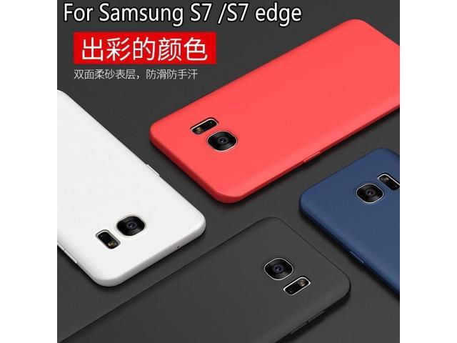 the latest 8bf06 47e6d For Samsung Galaxy S7 S7 Edge Soft Silicone Case Slim Frost Protective Back  Cover Case for Samsung S7 Full Cover - Newegg.com