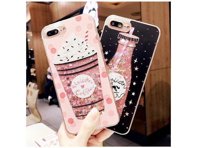 the best attitude aa878 ed4ba 3D beatiful cute Bright Glitter Quicksand Phone Case Cover For iPhone 6 6S  iPhone 7 7 Plus iPhone 6S Black - Newegg.com