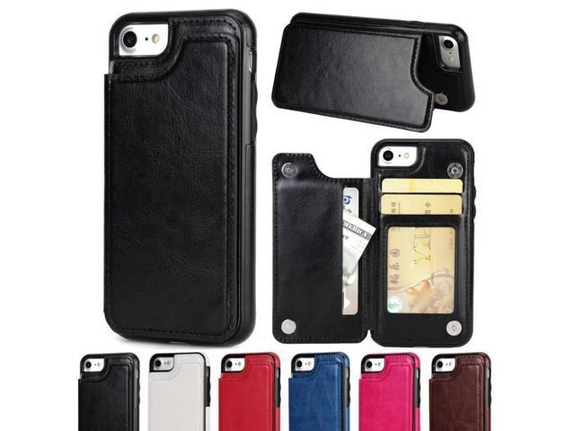 outlet store 0b321 3886c Luxury Men's Fashion PU Leather Shockproof Back Cover Wallet Card Holder  Multi-functional Protective Mobile Phone Shell Case For iPhone 7 7PlusSE 6  6S ...