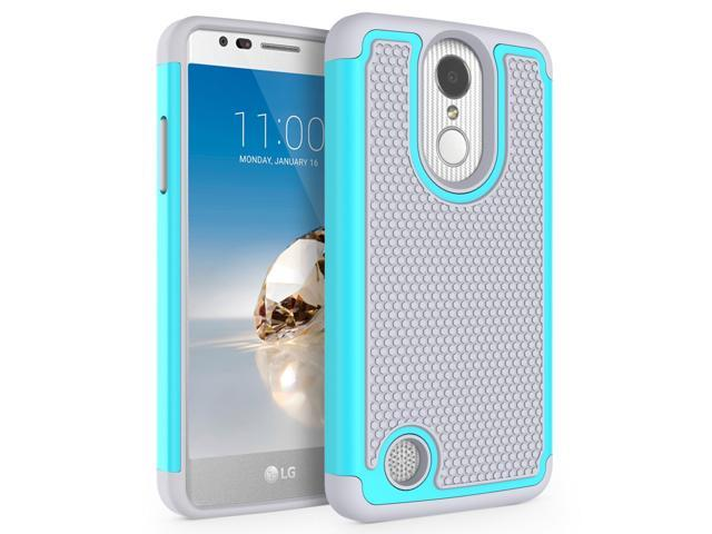 LG K4 2017 Rugged Impact Heavy Duty (Drop Protection) Dual Layer Silicone  Shock Proof Hard Case Cover Skin - Teal / Gray - Newegg ca