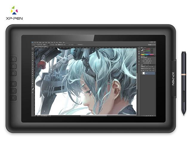 XP-Pen Artist13 3 IPS 13 3-Inch Drawing Monitor Pen Display Graphics  Drawing Monitor with HDMI to Mac cable and Anti-fouling Glove (Black) -