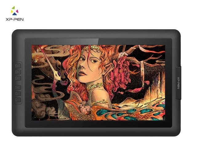 XP-Pen Artist15 6 15 6 Inch IPS Drawing Monitor Pen Display Graphics  Digital Monitor with Battery-free Passive Stylus (8192 levels pressure) -