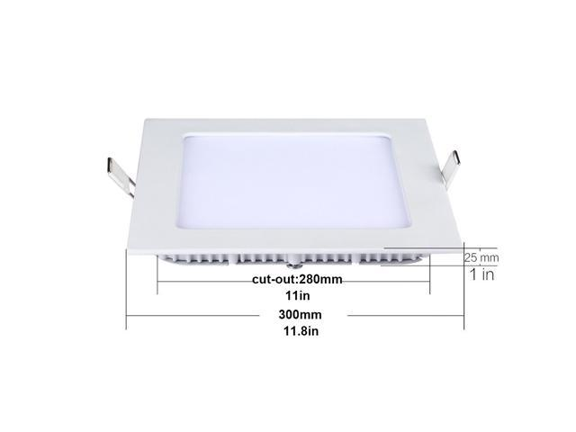 thg 12 inch square led panel light 24w 180w replacement 5000k daylight white 1800 lm. Black Bedroom Furniture Sets. Home Design Ideas