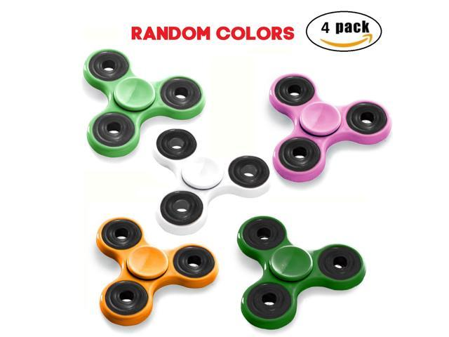 (4 PACK) Tri-Spinner Fidget Toys Hybrid Ceramic Bearing Good for ADHD and