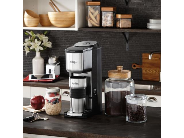 Mr Coffee Single Cup Coffeemaker With Built In Grinder With Travel